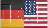 Germany vs usa group g world cup 2014 — Stock Photo
