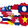 Asean members flags on gears — Stock Photo #47867985