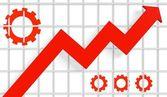 Grow up diagramm arrow — Stock Photo