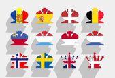 Europe monarchy — Stock Photo