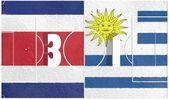 Costa rico vs uruguay championship 2014 — Stock Photo