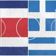 Costa rico vs greece world cup 2014 — Stock Photo