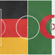 Germany vs algeria world cup 2014 — Stock Photo #48807001