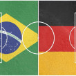 Brazil vs germany world cup 2014 — Stock Photo