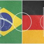 Brazil vs germany world cup 2014 — Stock Photo #49158843