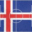 Iceland flag on football field — Stock Photo #49761967