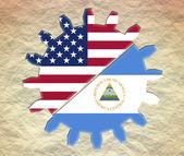 美国与尼加拉瓜的关系 — 图库照片