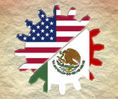 Usa and mexico relationships — Stock Photo