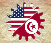 Usa and tunisia relationships — Stock Photo