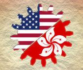 Usa and hong kong relationships — Stock Photo