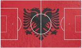 Bandera de albania en el campo de fútbol — Foto de Stock