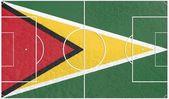 Bandera de Guayana en el campo de fútbol — Foto de Stock