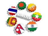 Bimstec Bay of Bengal Initiative for Multi-Sectoral Technical and Economic Cooperation — Stock Photo