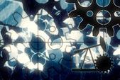 Pozadí abstraktní průmyslové — Stock fotografie