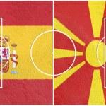 Spain vs macedonia europe championship 2016 — Stock Photo #50841083