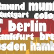Germany main cities tag cloud — Stock Photo #50844591