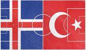 Iceland vs turkey europe championship 2016 — Stock Photo