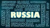 Russia neon text — Stock Photo