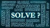 Solve ? neon text — Stock Photo