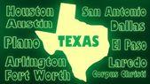 Texas state cities — Stock Photo