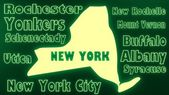 New york state cities — Stock Photo