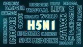 H5n1 neon shine text — Stock Photo