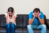 Couple sad and mad at each other — Stock Photo