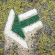 Stock Photo: Green arrow sign