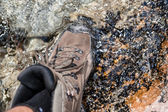 Waterproof hiking boots — Stock Photo