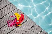 Swimming pool equipment summer concept — Stock Photo