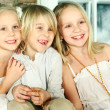 Christmas children - cheerful smiling kids — Stock Photo