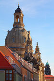 Dresden, Germany - The Dresdner Frauenkirche, Lutheran church — Stock Photo