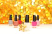 Color nail polish - party makeup — Stock Photo