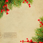 Vintage Christmas card — Stock Photo