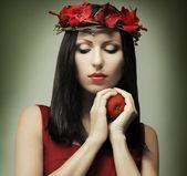 Kobieta moda - pokusa — Zdjęcie stockowe