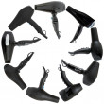 Hairdryer isolated - beauty salon tools — Stock Photo