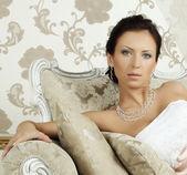 Stylish fashion model, glamour and beauty — Stock Photo