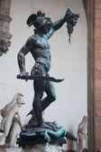 Perseus holding Medusa's head - statue from Benvenuto Cellini, F — Stock Photo