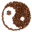 Yin and yang from coffee — Stock Photo