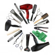 Professional hairdressing equipment - beauty salon and barbersho — Stock Photo