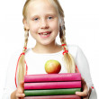 Back to School. Happy Pupil - smiling girl — Stok fotoğraf