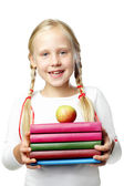 Back to School. Happy Pupil - smiling girl — Stock fotografie