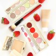 Summer makeup set, female cosmetics and accessories — Stock Photo