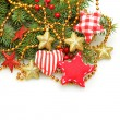 Stock Photo: Christmas handmade design decorations, Christmas on white backgr