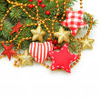 Christmas handmade design decorations, Christmas on white backgr — Stock Photo