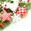 Stock Photo: Christmas design background with decorations