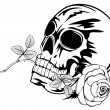 Royalty-Free Stock Vector Image: Skull with rose