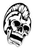 Punk skull — Stock Vector