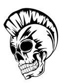 Skull punk — Stock Vector