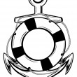 Anchor and ring-buoy — Stockvector  #12737401